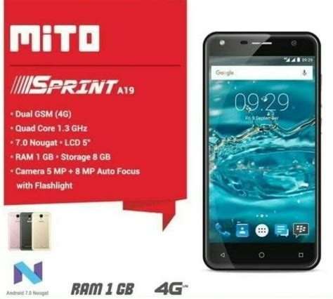 Spesifikasi Tablet Advan R7 harga spesifikasi mito a19 sprint 4g dan a19 sprint pro harga dan spesifikasi hp