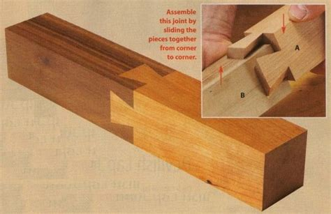 dovetail woodworking press a dovetailed board into another board with matching