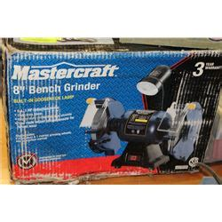 mastercraft bench grinder new mastercraft 8 quot bench grinder with light in box