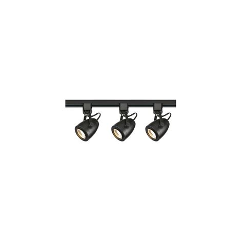 black led track lighting kits lithonia lighting 44 5 in 3 light black led meshback