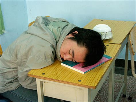 Sleeping On Desk by Is It Better To Stay Up Late Studying For A Test