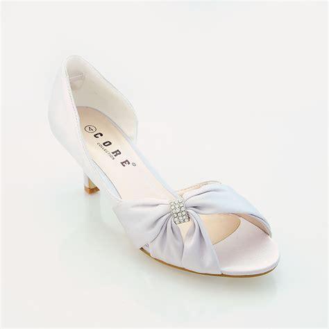 low cost wedding shoes uk womens wedding bridal evening bridesmaid low heel