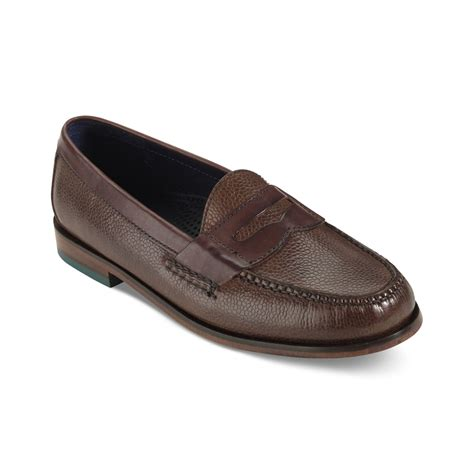 brown loafers for cole haan pinch loafers in brown for lyst