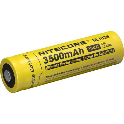 Nitecore 18650 Rechargeable Li Ion Battery 3400mah 3 7v Nl1834 nitecore nitecore 18650 li ion rechargeable battery nl1835 b h