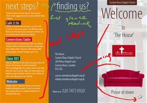 welcome brochure template church brochure sles search welcome center
