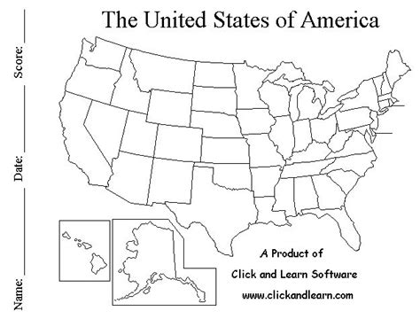 how to memorize the map of the united states blackline united states map free click and learn free