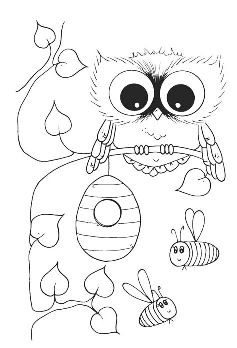 coloring book album zip owl with bees coloring pages owl coloring pages