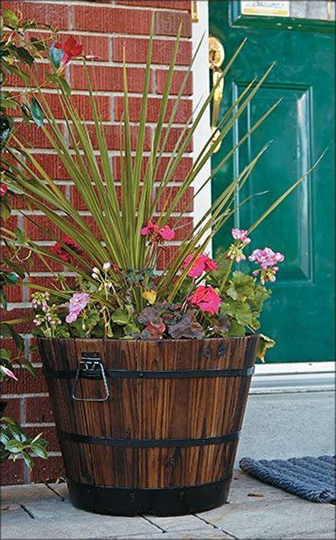 Oak Barrel Planter Ideas by 25 Best Ideas About Wine Barrel Planter On