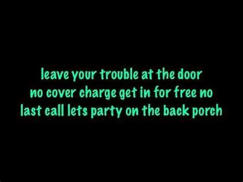 Back Porch Dierks Bentley dierks bentley back porch lyrics