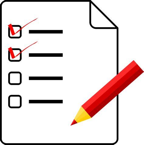 list clipart clipart checklist