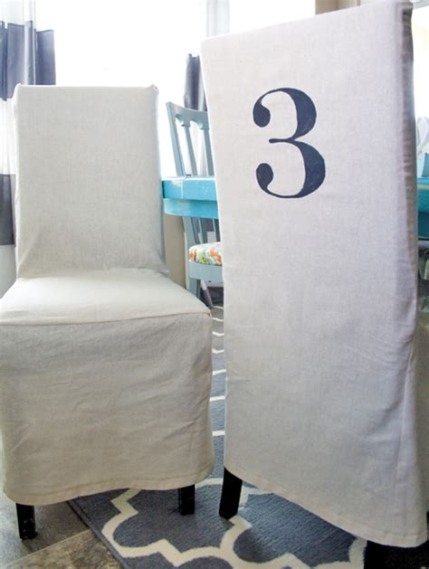 Make Dining Chair Covers Ruthie Be Maude Diy Stenciled Parson Chair Slipcovers
