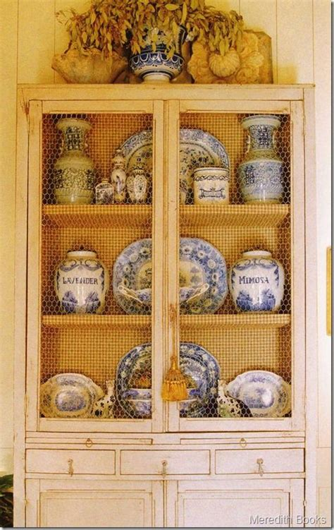 french provincial china cabinet craigslist blue and white blue and and chicken wire on