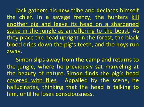 symbols in lord of the flies chapter 4 lord of the flies