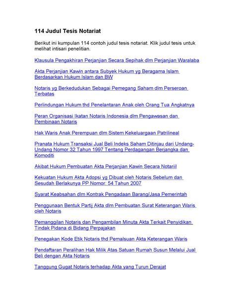 judul tesis akuntansi pajak 114 judul tesis notariat by judul skripsi issuu