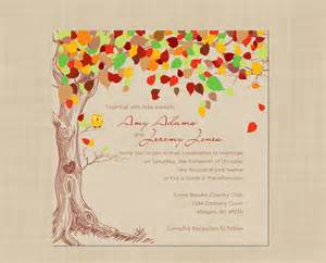 autumn wedding invitation rustic vintage by colorsplashdesign