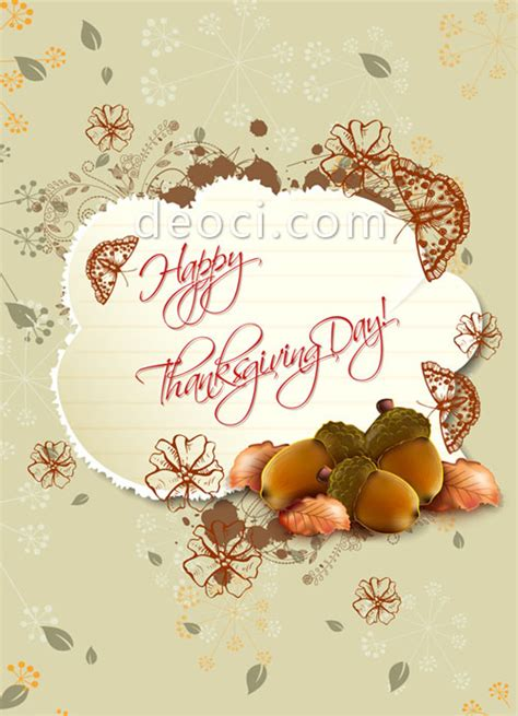 thanksgiving card template photo vector thanksgiving postcard cover background design