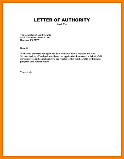 Letter Sle authorization letter writing sle 28 images how to