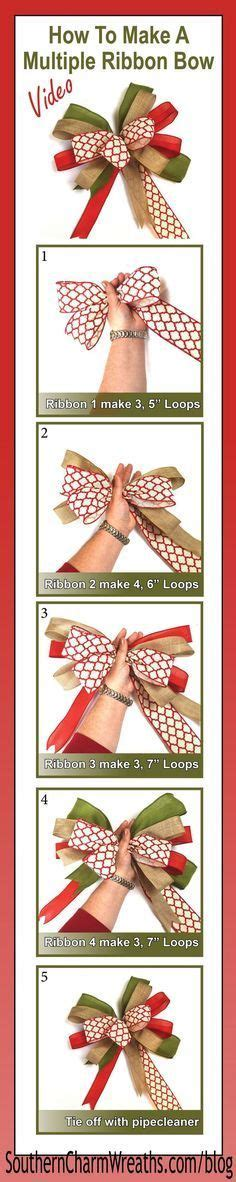 diy christmas bows for trees how to make a bow with ribbons garlands wreaths and deco mesh bows