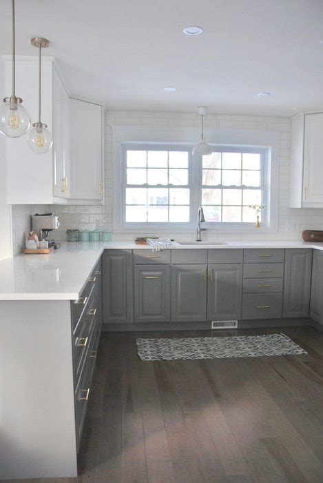 white and grey kitchens a gray and white ikea kitchen transformation the