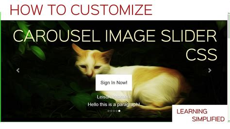 bootstrap tutorial youtube carousel how to make custom carousel image in css tutorial in