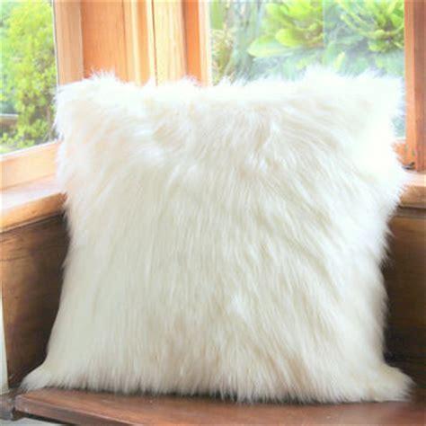 mode whisper faux fur bean bag cover white faux fur cushion floor from west decor
