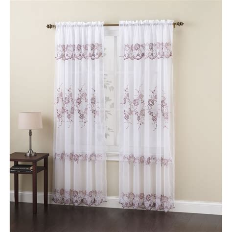 kmart curtain panels embroidered voile panel sheer beauty from sears kmart