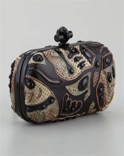 Bottega Veneta Butterfly Knot by Bottega Veneta Butterfly Snakeskin Clutch Bag In