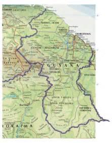 map of south america guyana guyana素材