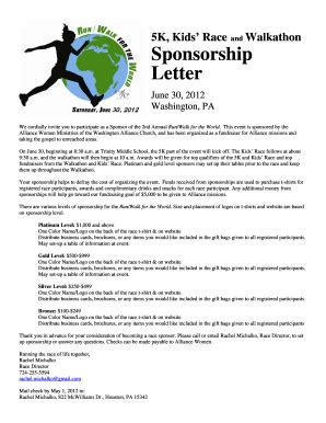 sponsorship letter for charity run event sponsorship letter forms and templates fillable