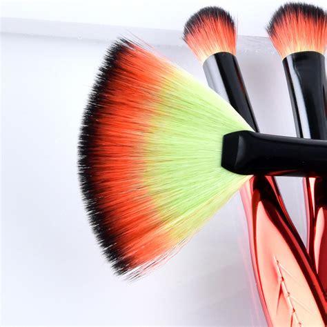 Kuas Rias Makeup Plastik 29029 eye make up brush kuas rias mata bentuk daun 4 pcs jakartanotebook