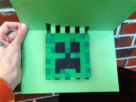 minecraft creeper pop up card template 3 minecraft themed paper craft projects lovetoknow
