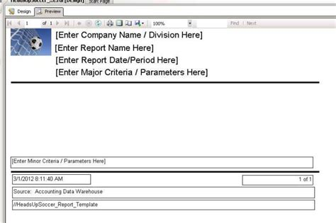 server report template creating a reporting service report template