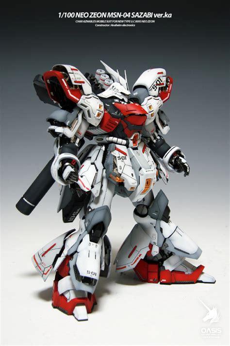 Kaos Gundam Gundam Mobile Suit 31 msn 04 sazabi verka 02 gundam mecha