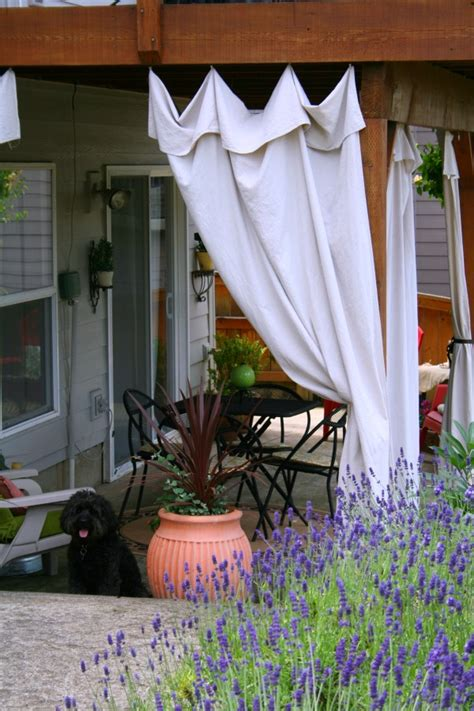 drop cloth curtains for patio drop cloth outdoor curtains today s creative life