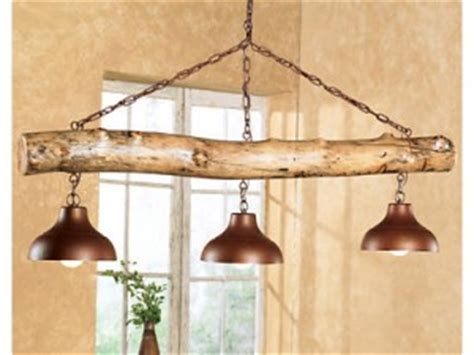Log Cabin Light Fixtures The Aspen Log Three Bell Light Fixture Cabin Decor