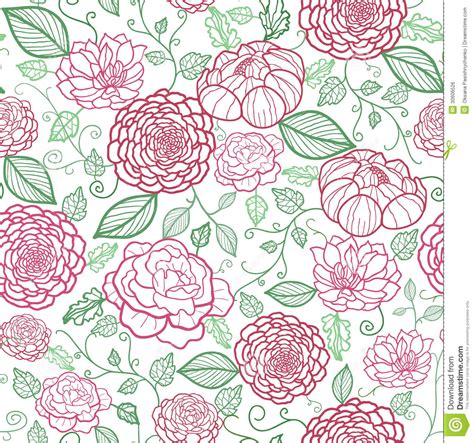 floral pattern artwork floral line art seamless pattern background stock vector