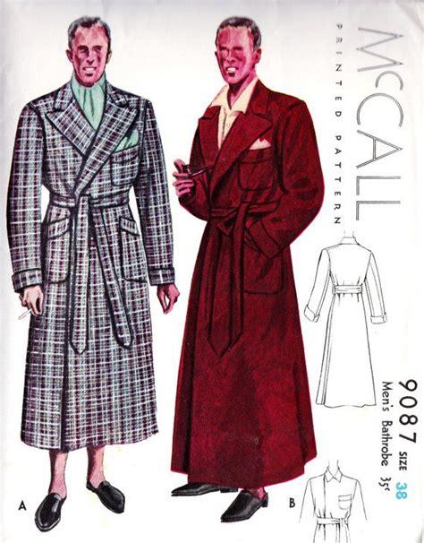 sewing pattern robe 1930 s men s bathrobe vintage sewing pattern might seem