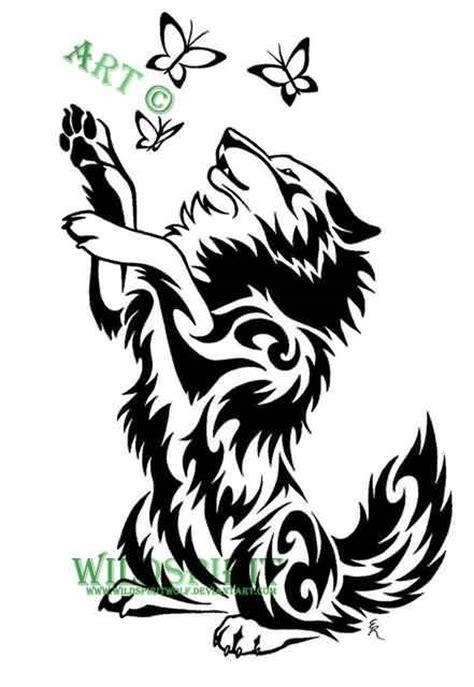 wolf butterfly tattoo designs 50 amazing wolf designs golfian