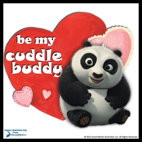 valentines day panda be my cuddle buddy kung fu panda dreamworks animation