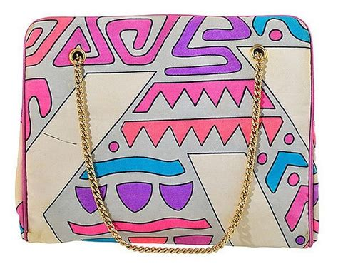 Pucci Chain Link Silk Purse by A 1960 S Pucci Purse Silk Covered With Gilt Chain In