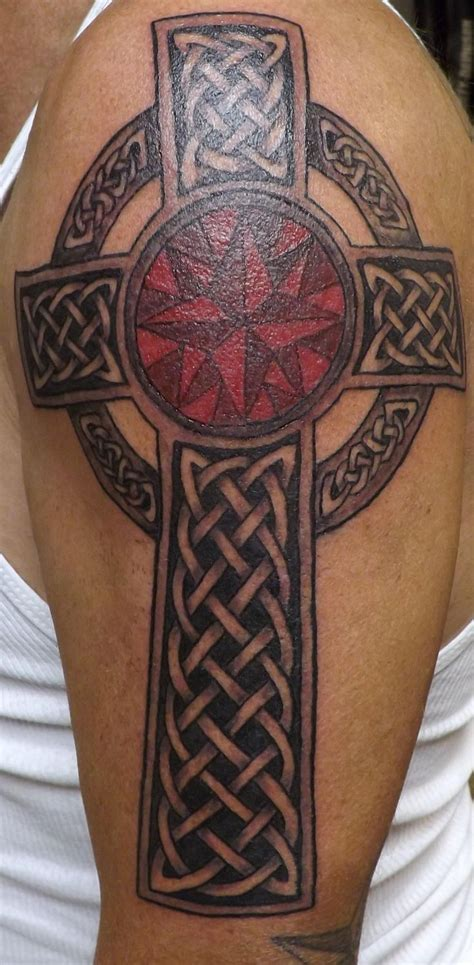 cross tattoos shoulder 69 awesome celtic shoulder tattoos