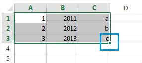 excel 2010 how to use fill handle tutorial tips and fill the empty selected cells using the formula excel 2010