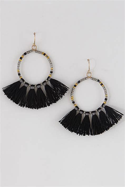 Tassel Color Nightclubs Earrings Black 02a1d9r 1 ra5e2809 baby tassel colorful earrings