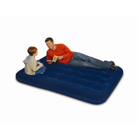 air bed full size northwest territory flocked full size air bed with inner air coils sears