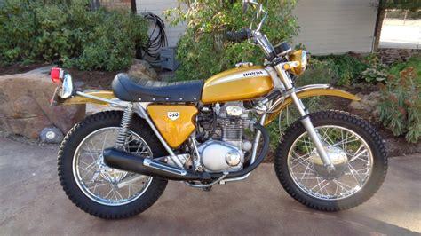 Honda Sl350 by 1970 Honda Sl350 K0 Gold Restored Marbles Motors