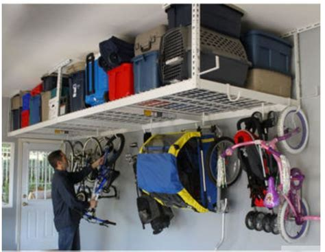 Garage Storage Deck Overhead Garage Storage Rack Ceiling Shelf Shop Space