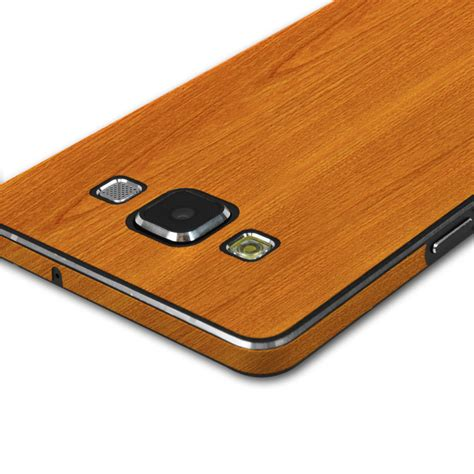 Wood Samsung Galaxy A5 Custom by Skinomi Techskin Samsung Galaxy A5 Light Wood Skin Protector
