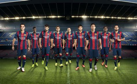barcelona soccer football kit release nike unveil new fc barcelona home