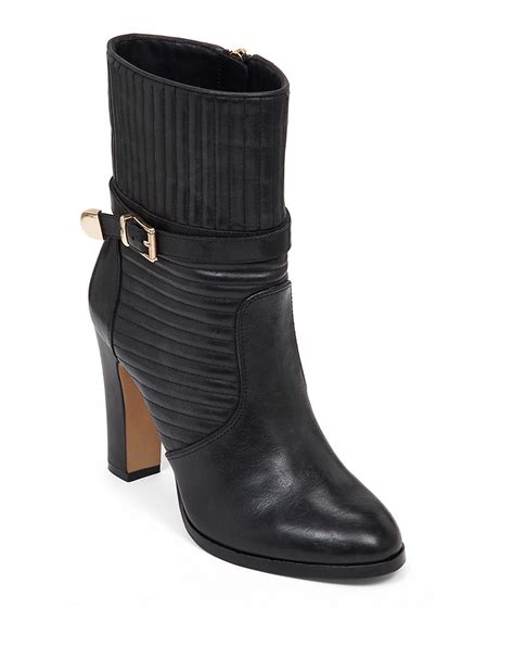 vince camuto black boots vince camuto curtis leather booties in black lyst