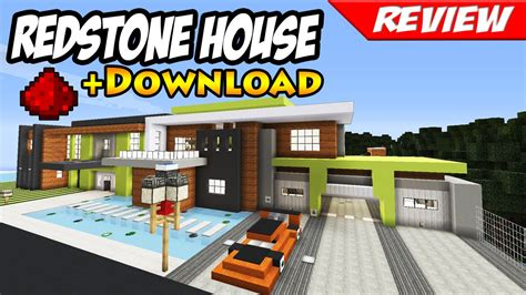 how to build a redstone house minecraft best modern redstone house download smart house youtube